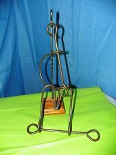 WROUGHT IRON TAVERN PUZZE WITH STAND  #K