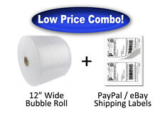 "3/16"" x 350' Ft Bubble Wrap + 400 PayPal eBay Shipping Labels"