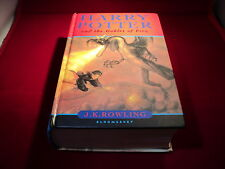Harry Potter and the goblet of fire by J. K. Rowling 7th Print Run Book - name