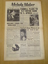 MELODY MAKER 1954 JULY 31 JACK PARNELL TEDDY WILSON JIMMY WATSON WIMBLEDON JAZZ