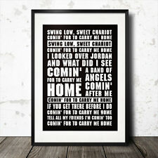 Swing Low Sweet Chariot rugby song lyrics poster england