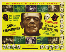 Famous Monsters Son and Bride of Frankenstein Poster Replica Print 14 x 11""