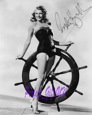 RITA HAYWORTH CIRCA GILDA LADY SHANGHAI SIGNED 10X8 PP REPRO PHOTO PRINT N3