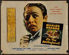 ON THE WATERFRONT 1954 ORIGINAL 22X28 MOVIE POSTER MARLON BRANDO KARL MALDEN