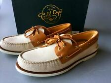 Sperry Top-Sider Gold Cup Authentic Original Boat Shoe~SZ 9.5~IVORY/TAN~STS14971