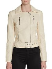 $218 French Connection Albany Biker Jacket In Mid Brûlée Size 10