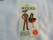 Vintage 1963 BARBIE and KEN in MEXICO Costume Travel BROCHURE MINT Booklet book