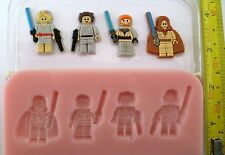 STAR WARS LEGO HEROS SILICONE MOULD FOR CAKE TOPPERS, CHOCOLATE, CLAY ETC