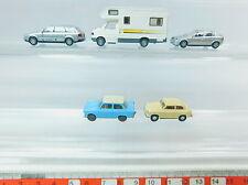 AV285-0,5# 5x Wiking H0 modello: Opel+Trabant 601+Audi Telecom+VW/Volkswagen etc