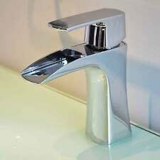 Chrome Polished Waterfall Faucet Brass Bathroom Basin Sink Mixer Tap Top Sale