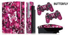Skin Decal Wrap for PS3 Original Fat Playstation Gaming Console Controller BFLYP