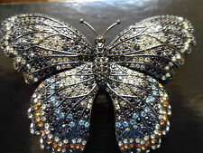 NEW Joan Rivers Large Crystal Butterfly Pin - LOOK COLLECTORS!!