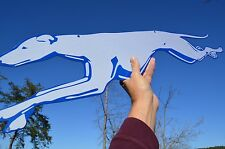 OLD STYLE LG 3FT RUNNING GREYHOUND DOG BUS LINES TRAVEL DOG 2 SIDE SIGN USA MADE