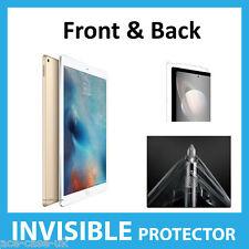 """Apple IPAD 12.9"""" Invisibile Pro PROTEGGI SCHERMO scudo della pelle completa anteriore e posteriore"""
