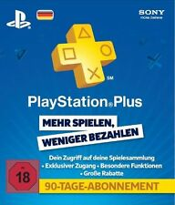 PlayStation Plus 3 Monate Deutschland PSN 90 Tage DE Key PS3 PS4 SOFORT PER MAIL