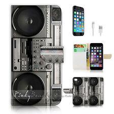 iPhone 6 Plus (5.5') Flip Wallet Case Cover! P0712 Retro Radio