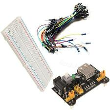 MB-102 830 Point Solder PCB Breadboard+Power Supply+65pcs Jump Cable Wires BDRP
