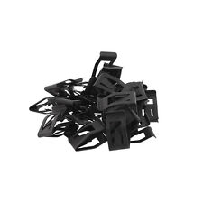 New 10Pcs Auto Car Front Console Dashboard Plastic Push-Type Trim Metal Retainer