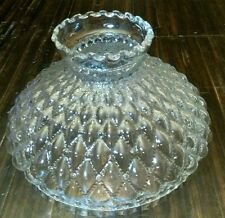 "Clear Quilted Glass 10"" Hurricane Lamp Shade"