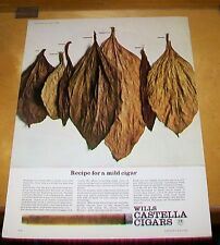 WILLS CASTELLA CIGARS  VAT 69 SCOTCH WHISKY ADVERTISEMENTS THE FIELD 1964