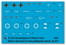 Peddinghaus 2476 1/87 Decal for the Tank trolley with Panzer IV Tower