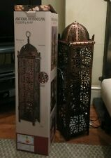 Antique Moroccan Floor Lamp Large Lantern North African Style Two Bulb Lamp 82cm