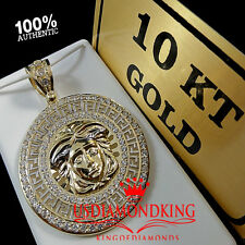 NEW REAL10K SOLID YELLOW GOLD MEDUSA PENDANT CHARM MEDALLION 2.25 INCH 11.5 GRAM