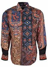 NEW Robert Graham Classic Fit Hint of Color Limited Edition Sport Shirt LARGE