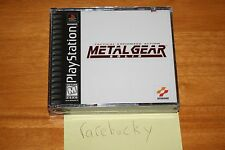 Metal Gear Solid (PS1 PSX Playstation) NEW SEALED BLACK LABEL NEAR-MINT, RARE!