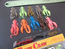 "10x(a Mix of colors) Lucky John ROCK CRAW 2"" Eatable strong crayfishl scent"