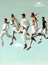 PUBLICITE ADVERTISING 025  2008  LACOSTE  vetements de sport