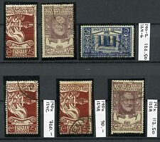ITALY 1922 Mazzini Used Set with Varieties CEI CV$1045.00
