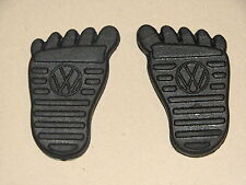 VW Pedal Pads Beetle Ghia Bus Type 3 Super Bug Squareback feet foot Volkswagen