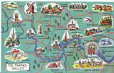 Map Postcard - Interesting Places in The Thames Valley     MB1749