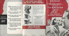Bell & Howell Filmosound 202 16MM Film Projector Vintage Pamphlet Circa 1950's