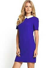 BNWT Definitions Cobalt Blue Contrast Collar Dress Size 22 RRP £44