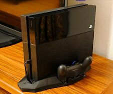 Vertical Stand Cooler Fan Cooling pad Charging Station Dock & 2 Console For PS4