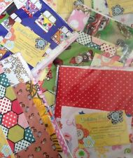 Fabric Scraps for sewing machine Small Crafts, vintage, Squares Patches Sew