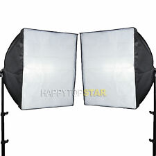 2 X 60 cm x 60cm Photo Video Studio Flash Light Lamp Bulb Tube CFL Softbox E27