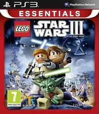 New LEGO Star Wars III The Clone Wars Essentials (PS3, Playstation 3)