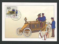 Federale MK 1990 assistenziale MOTORE carro postale scheda maximum carte MAXIMUM CARD MC d8471