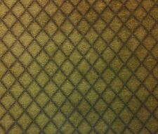 "RICHLOOM TWEED GOLD CHENILLE DIAMOND JACQUARD FURNITURE FABRIC BY THE YARD 56""W"