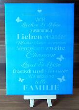 Dekofliese Wandbild Bildfliese Familie Spruch (042DP) Handarbeit 15x20cm