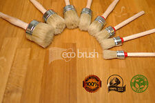 eco50 40 35 25 PAINT BRUSH SET OF 4 SHABBY CHIC CHALK PAINT WAX PURE BRISTLE BRU