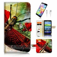 Samsung Galaxy Grand Prime Flip Wallet Case Cover! P2003 Dragonfly