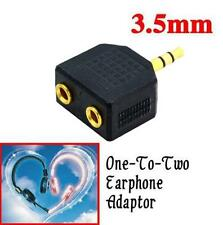 3.5mm Double Earphone Headphone Y Splitter Cables 1 to 2 Cord Adapter Jack Plug