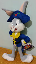 Bugs Bunny Pirate Costume Looney Tunes with Tags Cute Soft Plush Toy 31cm!