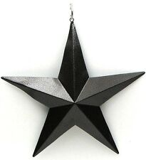 """Brown  Metal Star 5 """"( Set of 6)  Christmas Ornaments  & Western Accent Decor"""