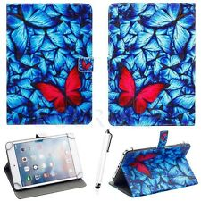 "Butterfly Pattern Leather Case Cover For Various Android iOS Tablet PC 7""-7.9"""
