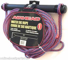 SOFT GRIP RED SKI TOW ROPE 75', WATER SKI, KNEE BOARD, WAKEBOARD, AIRHEAD AHSR-1